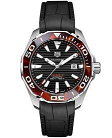 Men's Swiss Automatic Aquaracer Calibre 5 Black Rubber Strap Watch 43mm