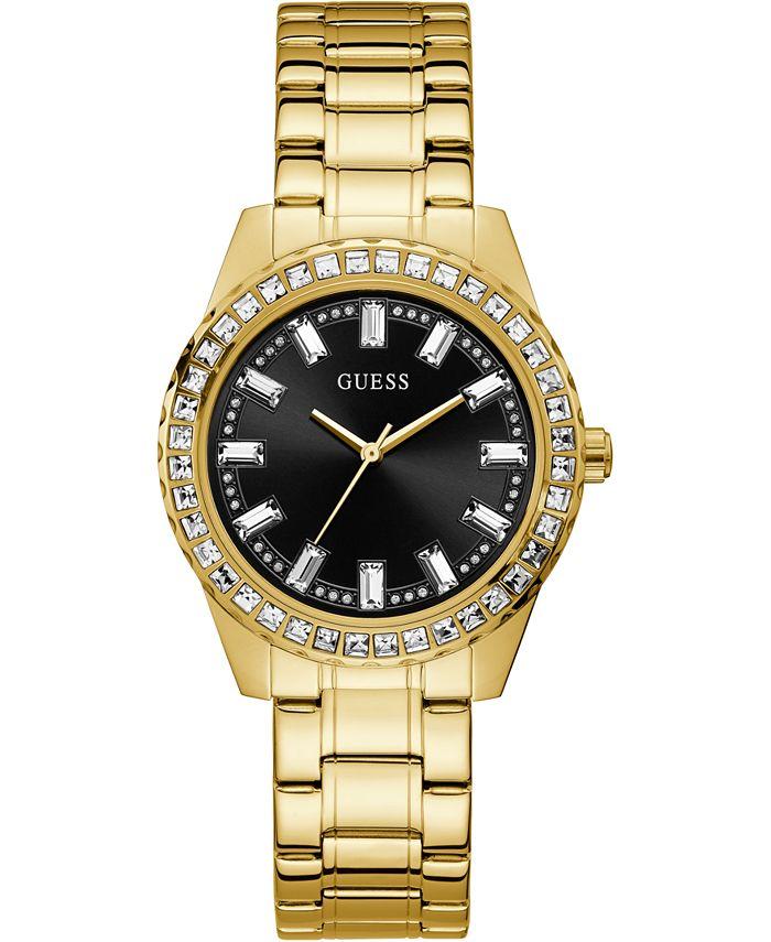 GUESS - Women's Gold-Tone Stainless Steel Bracelet Watch 38mm