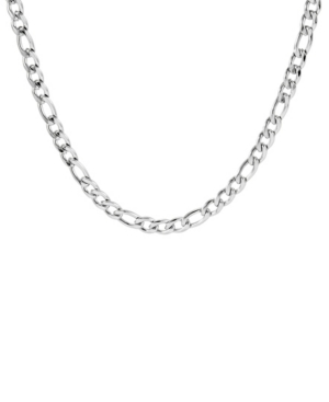Men's Silver Tone 6mm Stainless Steel Figaro Chain