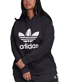 Plus Size Trefoil Hooded Sweatshirt