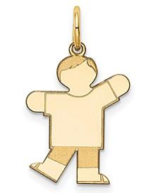 Boy Charm Pendant in 14k Gold