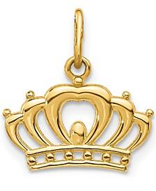 Emperor Crown Charm Pendant in 14k Gold