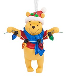 Disney Winnie the Pooh Holding Light String Christmas Ornament