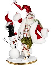 Santa Building Snowman - 20.5 Inches