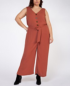 Plus Size Belted Jumpsuit