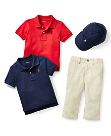 Ralph Lauren Baby Boys Sport Cap, Polo & Suffield Pants