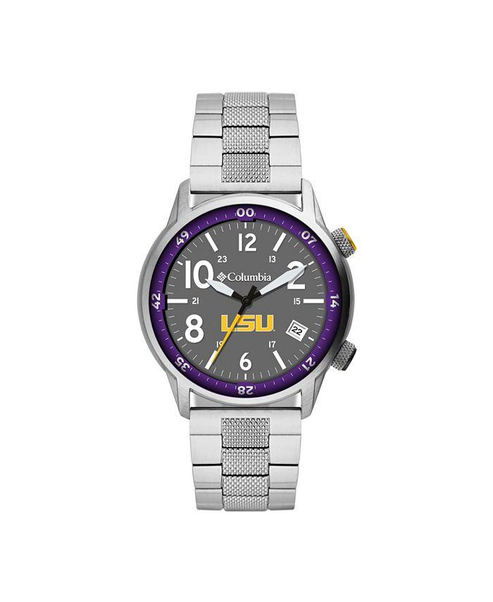 Columbia - Men's Outbacker LSU Stainless Steel Bracelet Watch 45mm