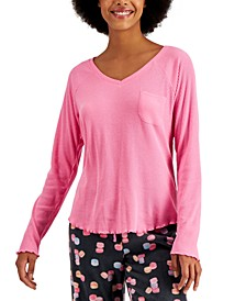 Ribbed Hacci Sweater Knit Pajama Top, Created for Macy's