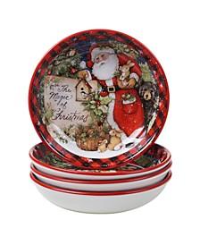 Magic of Christmas Santa 4 Piece Soup Bowl