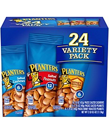 Peanuts Cashews Nuts Variety Pack 1.7 oz, 24 Count