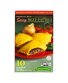 Jamacian Style Spicy Beef Empanadas, 10 Count