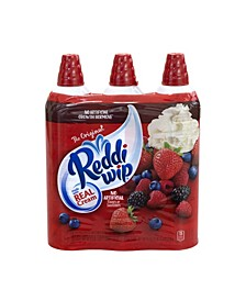 Reddi Wip Original Whipped Topping Cans, 15 oz, 3 Pack