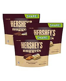 Nuggets Milk Chocolate with Almonds Candy, 10.1 oz, 3 Pack