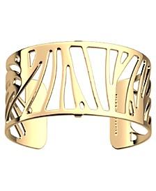 Wavy Openwork Adjustable Cuff Perroquet Bracelet, 25mm, 1in