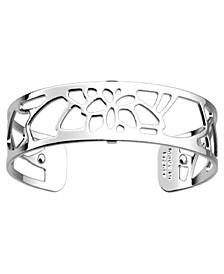 Openwork Thin Adjustable Cuff Nénuphar Bracelet, 14mm, 0.5in