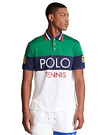 폴로 랄프로렌 Polo Ralph Lauren Mens Tech Pique Polo,Kayak Green Multi