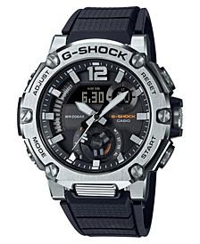 Men's Analog-Digital G-Steel Black Resin Strap Watch 43mm