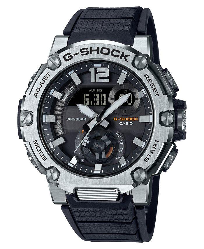 G-Shock - Men's Analog-Digital G-Steel Black Resin Strap Watch 43mm