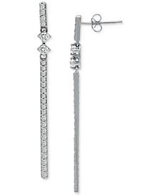 Cubic Zirconia Linear Bar Drop Earrings, Created for Macy's