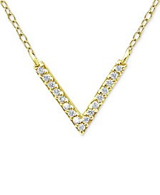 "Cubic Zirconia Mini-Chevron 16"" Pendant Necklace, Created for Macy's"