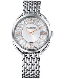 Women's Swiss Crystalline Glam Stainless Steel Bracelet Watch 35mm