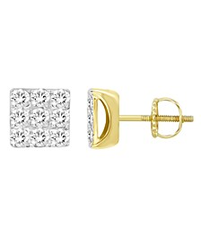 Men's Diamond (1/4 ct. t.w.) Earring Set in 10k Yellow Gold