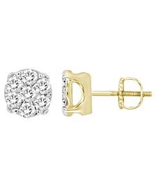 Men's Diamond (1/4 ct.t.w.) Earring Set in Yellow Gold