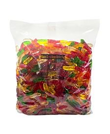 Mini Fruit Gummy Worms, 5 lbs