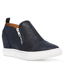 Krissa Perforated Wedge Sneakers