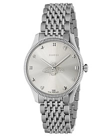 Women's Swiss G-Timeless Slim Stainless Steel Bracelet Watch 36mm