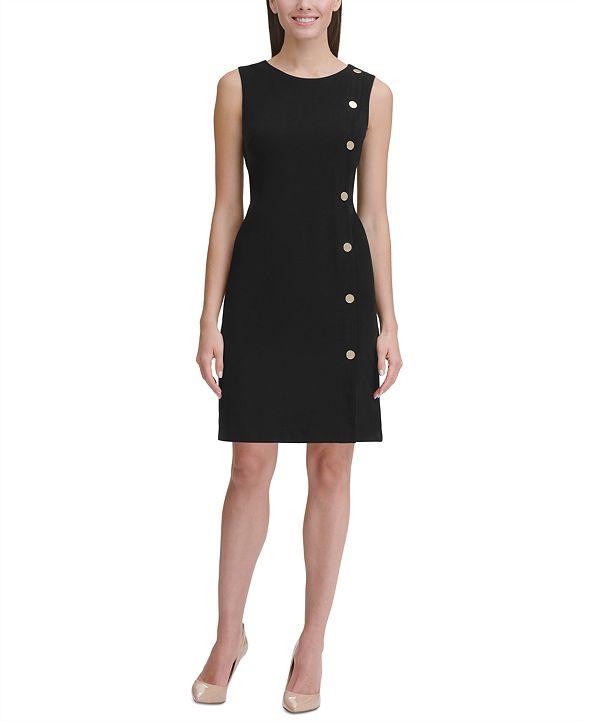 Tommy Hilfiger Button-Detail Sheath Dress