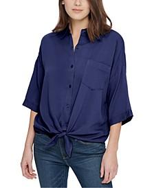 Tie-Front Shirt