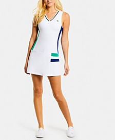 Colorblocked Sleeveless Tennis Dress