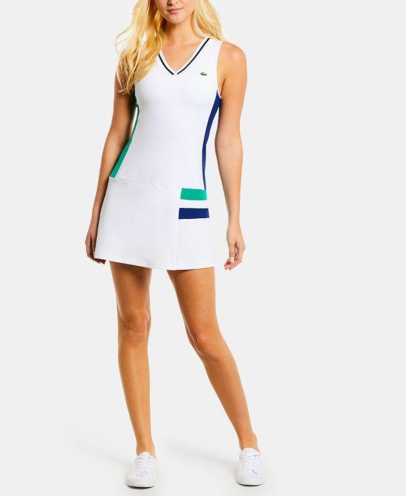 Lacoste Colorblocked Sleeveless Tennis Dress