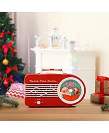 Mr Christmas Vintage Red North Pole Radio