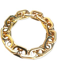 INC Gold-Tone Chain Link Stretch Bracelet, Created for Macy's