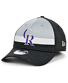 Colorado Rockies Youth Striped Shadow Tech 39THIRTY Cap