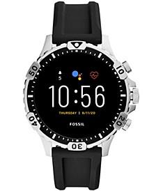 Men's Gen 5 HR Black Silicone Strap Touchscreen Smart Watch 46mm