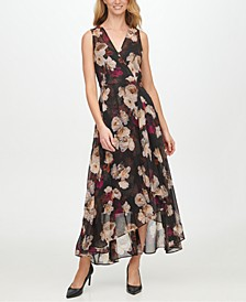 High-Low Chiffon Maxi Dress