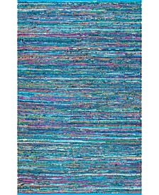 Sabina MGNM08B Blue 4' x 6' Area Rug