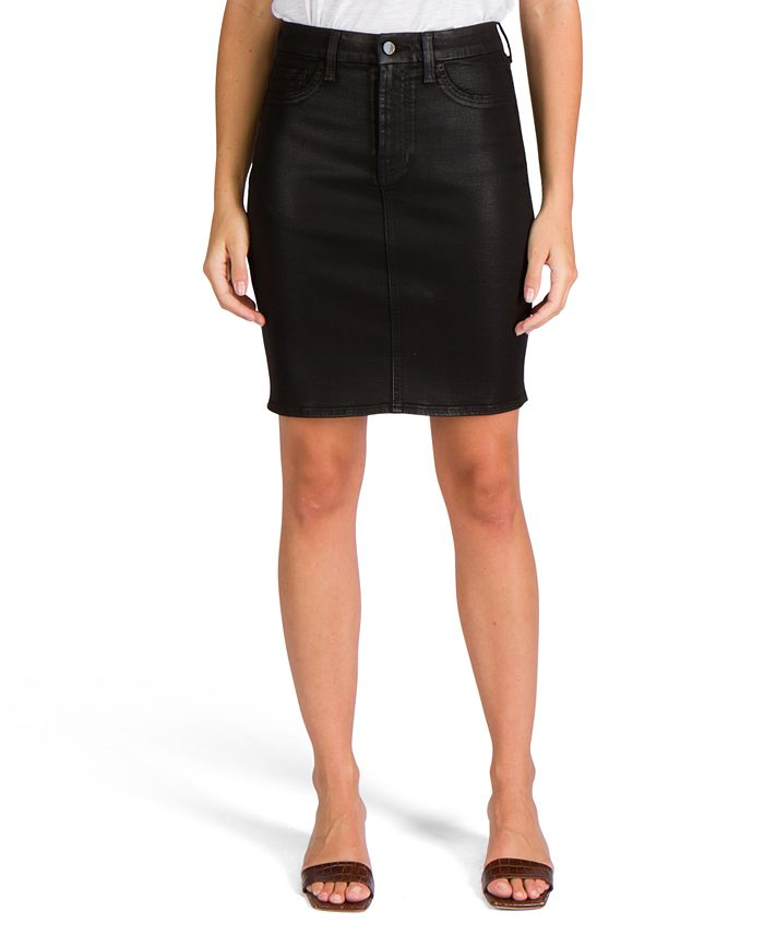 Jen7 by 7 For All Mankind - Coated Denim Pencil Skirt