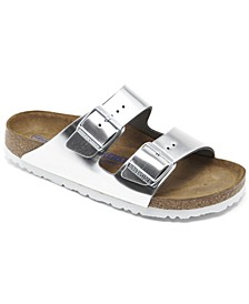 Women's Arizona Natural Leather Metallic Sandals from Finish Line