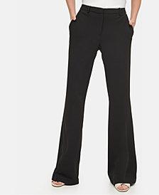 Calvin Klein Ponté-Knit Flare-Leg Pants