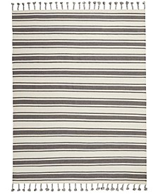 "Rio Vista DST01 Ivory and Gray 8' x 10'6"" Area Rug"