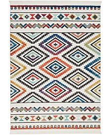 """Navajo NAV06 White 6'7"""" x 9'7"""" Area Rug"""