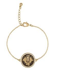 Gold-Tone Pavé Coin Flex Bracelet
