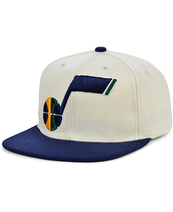 Mitchell & Ness Utah Jazz Natural XL Snapback Cap
