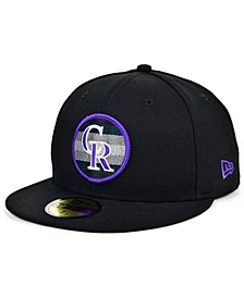 Colorado Rockies Circle Fade 59FIFTY Cap