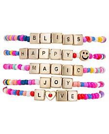 Gold-Tone 5-Pc. Set Happy Magic Beaded Stretch Bracelets