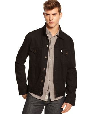 Levi's Black Button-Down Trucker Jacket - Coats & Jackets - Men